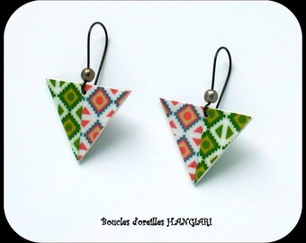 Triangle Collection: Inverted Triangle Earrings ~ Aztec Triangular Earrings