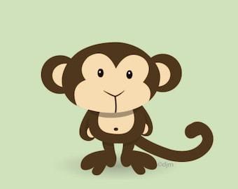 Monkey Print 12x12