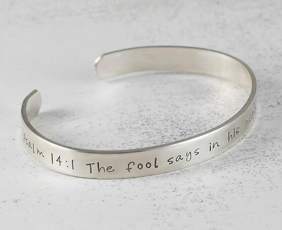 personalized cuff bracelet sterling silver engraved 1 4 inch. Black Bedroom Furniture Sets. Home Design Ideas