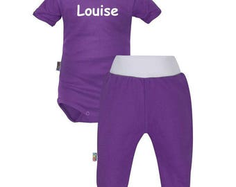 (Bodysuit + pants) personalized baby set