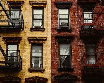 Dichotomy // NYC Apartment Building // New York City Photography // Mounted Photo Print
