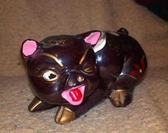 "Cadillac Piggy old plastic stuff, very unique rare sassy style about 6"" long"