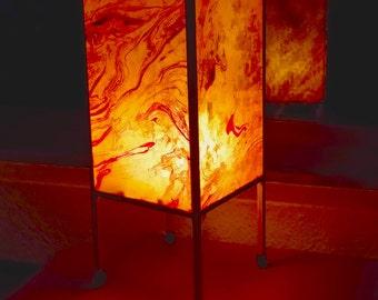 Superior Paper Lamp, Table Lamp, Accent Lamp, Night Light, Boho Lamp