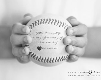 Personalized Gift Idea for Dad, Baseball Print, Father's Day Gift From Kids, Sports Decor, Stepdad Present Stepfather, Baseball Photo Gift