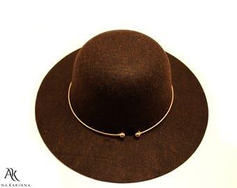 The Brown Tiller, Tiller Fedora Hat, Brown Wool Hat, Classic Fedora Hat, Fedora Hat, Winter wool Hat, Fashion Hat by AnnaKarinnaDesign