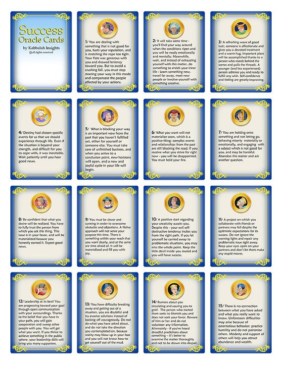 success oracle cards print your own oracle card deck 44