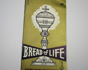 1959 Bread of Life Booklet by Divine Word Publications, 1950s Divine Word Pub. Booklet, Vintage Bread of Life Pamphlet,Mid Century Catholic