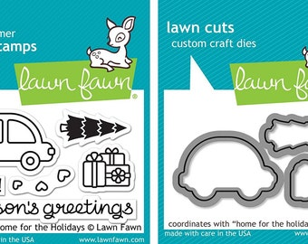 Lawn Fawn Home for the Holidays - Stamps and Dies - Two Item Lot