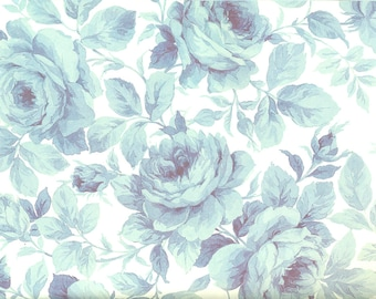 Blue rose - wrapping paper