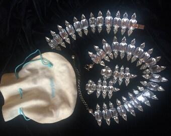 Ylang Ylang Bijou: Crystal Necklace, Bracelet, Earrings
