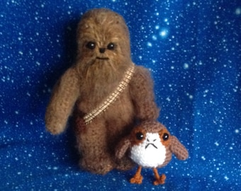 Chewbacca inspired crochet character for Star Wars fans!