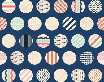 Trendsetter Dots Navy by Fancy Pants Designs for Riley Blake, 1/2 yard