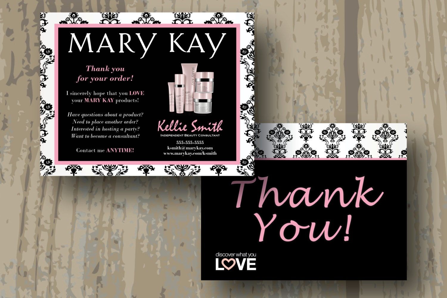 Mary Kay Thank You Cards Digital File Double Sided Postcard