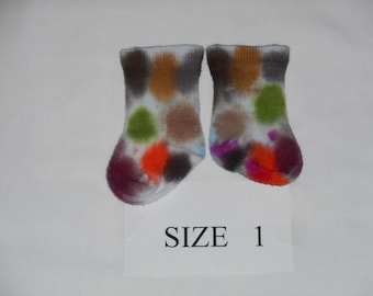 Baby Socks, Hand Dyed Baby Socks, Bamboo Baby Socks