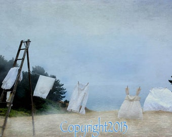 Laundry Photo, set of Greeting Cards -  Your Choice of images