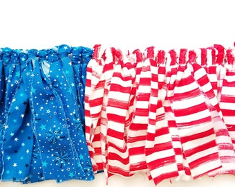 Fabric Banner 7' | Flag Banner, Red White & Blue Banner, 4th of July Decorations, Patriotic, July 4th Party Decorations, July 4th Garlands
