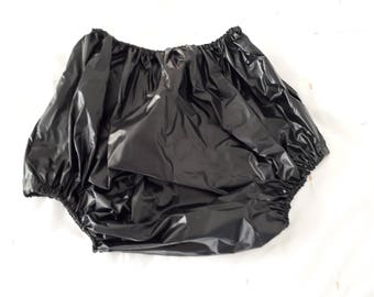 Adult baby  waterproof black  plastic  pull up  pants/nappy covers