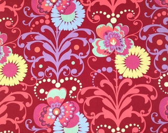 Per Yard Love Paradise by Amy Butler in deep red