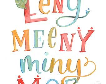 Eeny Meeny Miny Moe - Art Print - Makewells - Day 269