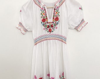 Hungarian embroidered dress