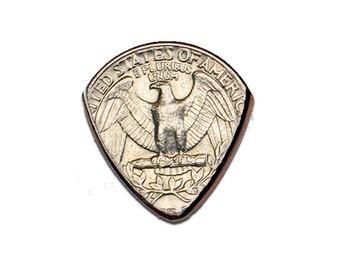 Quarter Coin Guitar Pick Handmade in America with FREE Shipping!