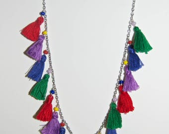 Multicolor Tassel Necklace