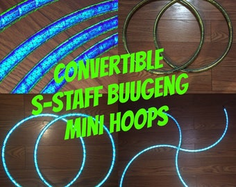 """S Staff Buugeng Mini Hoops - Color Morph Reflective HDPE or Polypro 5/8"""" Dance & Exercise Hula Hoop NOT an LED hoop"""