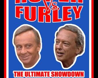 70's TV Classic Three's Company Roper vs Furley Boxing Poster Art custom tee Any Size Any Color
