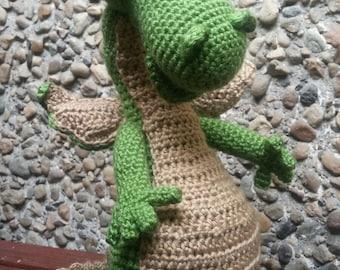 Crochet handmade sleepy dragon