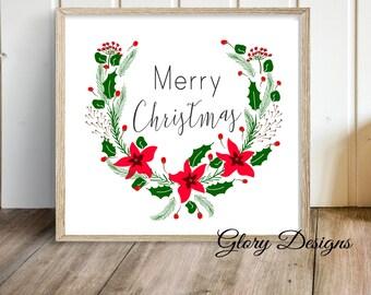 Printable, Merry Christmas Printable, Christmas Printable, Affordable Gift,  Printable, Christmas Quote