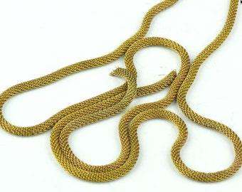 Snake Chain, Brass, 3mm natural brass 4 ft per sale