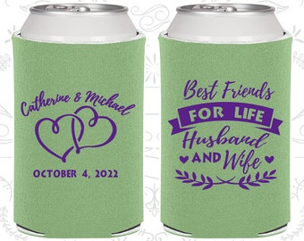 Sage Wedding, Sage Can Coolers, Sage Wedding Favors, Sage Wedding Gift, Sage Party Gift (409)