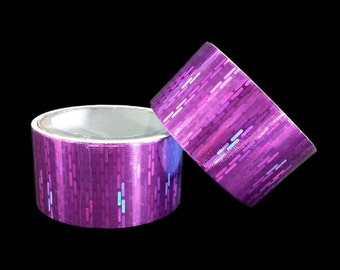 Purple Pink Holo Duct Tape Prisms Iridescent Metallic Holographic Shiny Paper Crafts Decorations Gift Wrap DIY Cards Scrapbook Supply