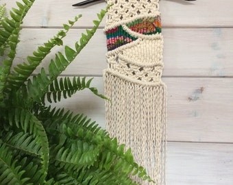 NEW PRICE!! Spring Macramé Wall Hanging, Woven Wall Hanging, Macramé Wall Art, Spring Macramé Wall Hanging, Macrame Woven Wall Hanging