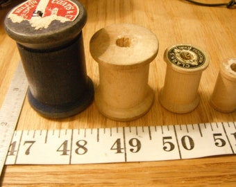 All Wooden Thread(Less)Spools, Original Label Wood Thread Spools,Clean Spools Only/No Thread!  {FR/F}