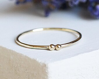 Gold Stack Ring, Gold Ring, Dainty Ring, Solid Gold Ring, Gold Stacking Ring, Gold Jewelry, 9ct Gold Ring, 9ct Gold Band, Simple Gold Ring