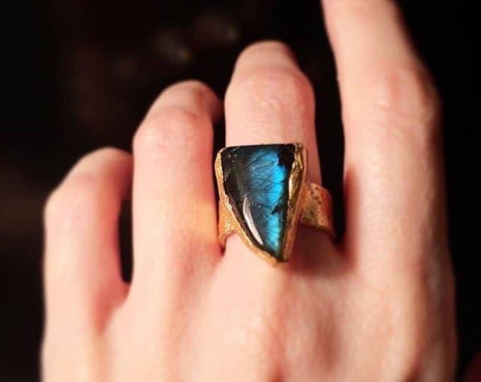 Blue Labradorite Ring, Size 7.25