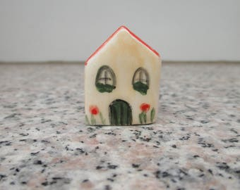 Little Ceramic House,Little Clay House,Cute Small House,Orange House,Tiny House,Miniature House,Terrarium House,Small details,Collectible