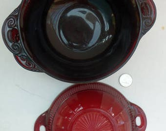 Ruby Coronation Bowls