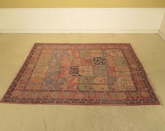 LF44673EC: ETHAN ALLEN Native American Geometric Approx.8' x 10' Wool Rug