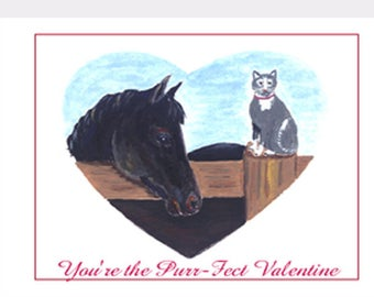 You're the Purr-Fect Valentine Card Set of Eight