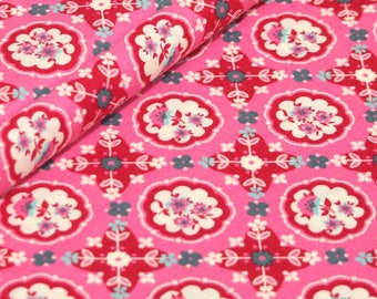 Liz Scott Fabric, Domestic Bliss by Liz Scott for Moda Fabrics, 18072-14 Kitchenette Pink
