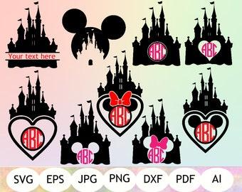 Disney Monogram SVG, Disney Castle SVG, Disney Printable, Instant Download