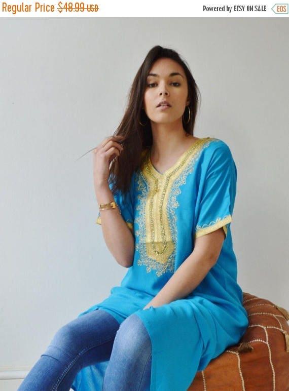 KAFTAN 20% SALE/ Spring Turquoise Resort Caftan Kaftan Fez-Ramadan, Eid, resortwear,beach coverup,loungewear, maxi dresses, birthdays, hone