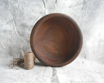 Rustic Striped Wood Bowl