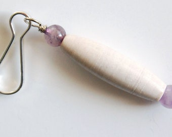 White n Purple OR Green Purse Bling, Oblong Zipper Pull, Zipper Charm, Backpack Charm, Purse Charm