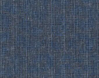 PRESALE: Navy from Polk by Carolyn Friedlander on Robert Kaufman's Essex Yarn Dyed Homespun