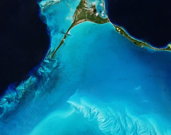 Instant Downloadable Satellite Image of Egg island in the Bahamas - Elements of this image furnished by ESA