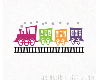 ABC Train Wall Vinyl Decals Art Graphics Stickers