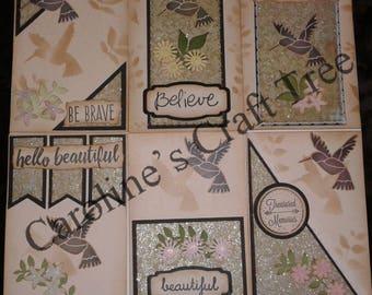 humming bird journal card set